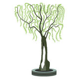 Olivenbaum - symbolische Zeichnung eines Olivenbaums Lizenzfreie Stockbilder