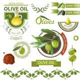 Olivenembleme Stockfoto