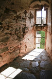 Olivenza castle window, Spain Royalty Free Stock Image
