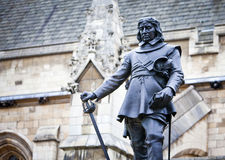 Oliver Cromwel. L - Statue in front of Palace of Westminster (Parliament), London, UK Stock Photography