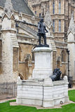 Oliver Cromwell. Statue outside Westminster Hall, Houses of Parliament, London, UK Royalty Free Stock Image