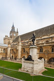 Oliver Cromwell. Statue outside Westminster Hall, Houses of Parliament, London, UK Royalty Free Stock Photography