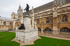 Oliver Cromwell. Statue outside Westminster Hall, Houses of Parliament, London, UK Stock Photo