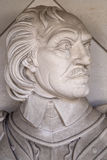 Oliver Cromwell Bust in London Royalty Free Stock Photography