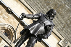 Oliver cromwell houses of parliament london  Stock Image