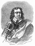 Oliver Cromwell Lord Protector après Charles I Photo stock