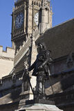 Oliver Cromwell monument Royalty Free Stock Images