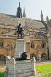 Oliver Cromwell monument in outside Palace of Westminster in London Stock Photos