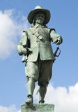 Oliver Cromwell Statue. A brinze statuer of Oliver Cromwell in St Ives Market Square Royalty Free Stock Photo