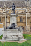 Oliver Cromwell Statue in front of Palace of Westminster,  London, England. Great Britain Royalty Free Stock Photo