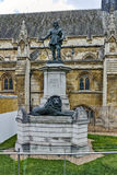Oliver Cromwell Statue in front of Palace of Westminster,  London, England. Great Britain Stock Images