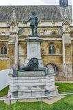 Oliver Cromwell Statue in front of Palace of Westminster,  London, England, Great Britain Royalty Free Stock Photos