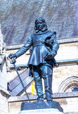 Oliver Cromwell - 1899 statue by Hamo Thornycroft  in front of Palace of Westminster (Parliament), London, UK Stock Photo