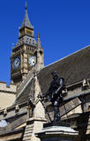 Oliver Cromwell Statue outside the Houses of Parliament Royalty Free Stock Photos