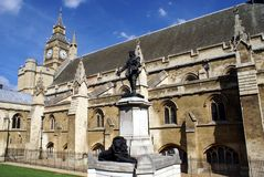 Oliver Cromwell statue, The Palace of Westminster, London, England Stock Photography
