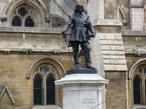 Oliver Cromwell Statues ouside of the Houses of Parliament Stock Image