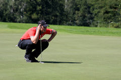 Oliver Fisher Winner of Golf Open at Celadna Stock Images