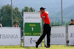 Oliver Fisher Winner of Golf Open at Celadna. CELADNA, CZECH REPUBLIC - AUGUST 21:  Oliver Fisher (ENG) winner of PGA Tournament  at the Czech Open, European Stock Photos