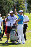 Oliver Fisher Winner of Golf Open at Celadna. CELADNA, CZECH REPUBLIC - AUGUST 21:  Oliver Fisher (ENG) winner of PGA Tournament  at the Czech Open, European Royalty Free Stock Photo