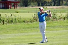 Oliver Fisher Winner of Golf Open at Celadna. CELADNA, CZECH REPUBLIC - AUGUST 21:  Oliver Fisher (ENG) winner of PGA Tournament  at the Czech Open, European Royalty Free Stock Photos