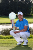 Oliver Fisher Winner of Golf Open at Celadna Royalty Free Stock Photography
