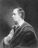 Oliver Goldsmith. (1728-1774) on engraving from the 1800s. Irish writer, poet and physician. Engraved by W.Hol and published by A.Fullarton & Co Stock Photos