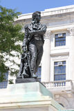 The Oliver Hazard Perry Statue. The statue of Admiral Oliver Hazard Perry on the steps of the Rhode Island Statehouse in Providence stock photo