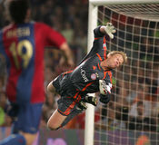 Oliver Kahn. Goalkeeper Oliver Kahn during a friendly match between Bayern Munich and FC Barcelona at the Nou Camp Stadium on August 22, 2006 in Barcelona, Spain Royalty Free Stock Photos