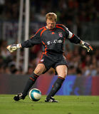 Oliver Kahn of Bayern Munich. During a friendly match between Bayern Munich and FC Barcelona at the Nou Camp Stadium on August 22, 2006 in Barcelona, Spain Royalty Free Stock Photography
