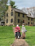 Oliver Miller Homestead South Park Pennsylvania Arkivfoto