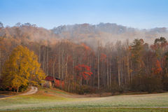 Oliver Springs. Beautiful autumn morning in Oliver Springs, Tennessee Stock Photos
