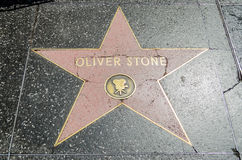 Oliver Stone's Star on Hollywood Boulevard, Los Angeles Stock Photography