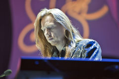 Oliver Wakeman. On stage with the band Yes in Bamberg Germany on the 7th Nov 2009 Stock Photos