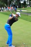 Oliver Wilson pro golfer of Britain. European Tour player Oliver Wilson prepares to tee off at the PGA professional golf event, WGC - Bridgestone Invitational Stock Photography