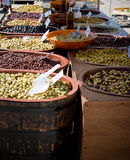 Olives. For sale at a market in the south of France Stock Images