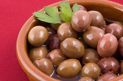 Olives. Close up off Spanish olives Stock Photography