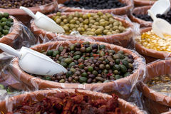 Olives. In a italian market Royalty Free Stock Image