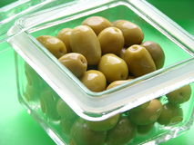 Olives. Some olives in a glas box Royalty Free Stock Images