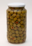 Olives. With paprika in a glass Stock Images
