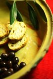 Olives And Bruschette Royalty Free Stock Photography