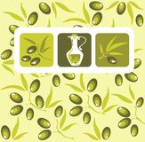 Olives background Stock Photography