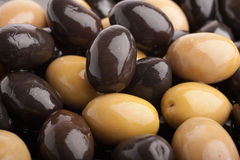 Olives and black olives Royalty Free Stock Images