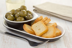 Olives in bowl Royalty Free Stock Image
