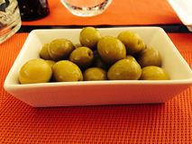 Olives. Bowl of olives Stock Photography
