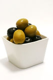 Olives in bowl Stock Photo