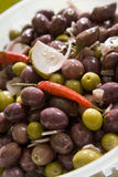 Olives in bowl Royalty Free Stock Images