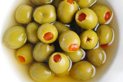 Olives in bowl Stock Photos