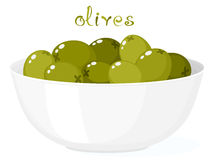 Olives In Bowl Royalty Free Stock Photography