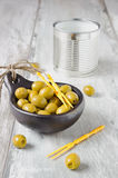 Olives in a bowl Royalty Free Stock Images