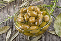 Olives in a bowl Stock Photos